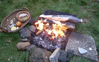 fire rock cooking